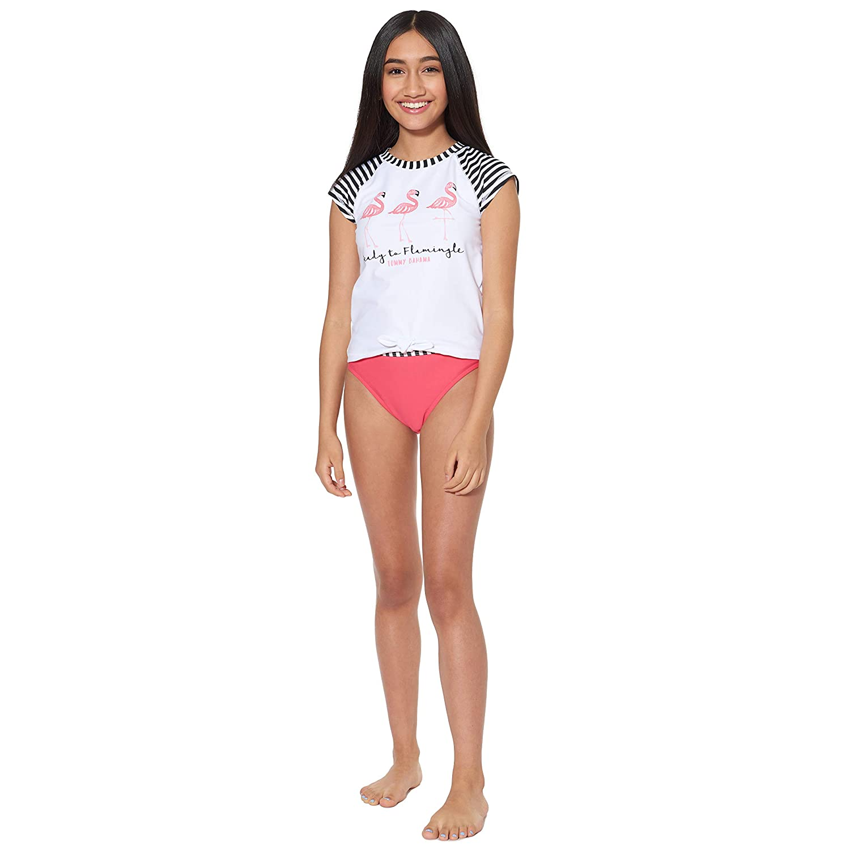 Tommy Bahama Girls 2-Piece Rashguard and Swim Bottoms Set