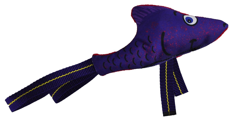 Flyin' Fish Large American Dog Flyin' Fish Dog Toy, Purple