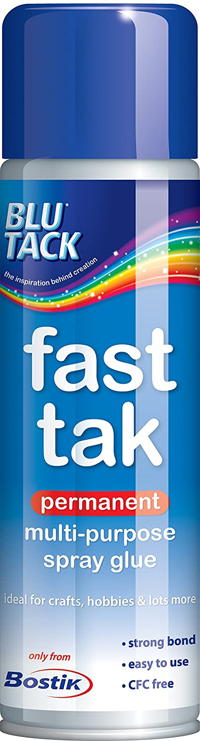 Bostik Fast Tak Strong Contact Adhesive Spray 500ml - Pack of 6