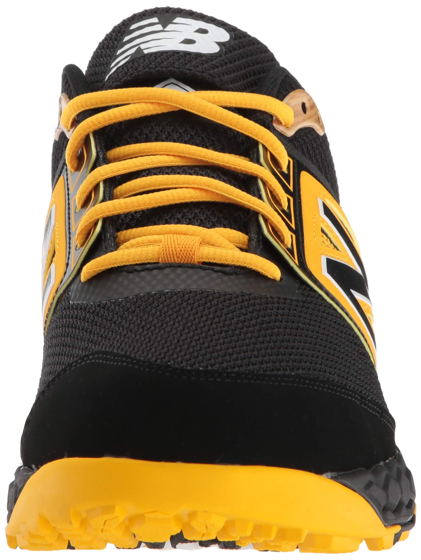 New Balance Men's 3000v4 Turf Baseball Shoe, Black/Yellow, 5 D US by New Balance (Image #4)
