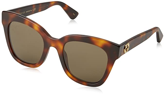 fc58de5cd3 Image Unavailable. Image not available for. Color  Gucci Gg0029s Havana brown  ...
