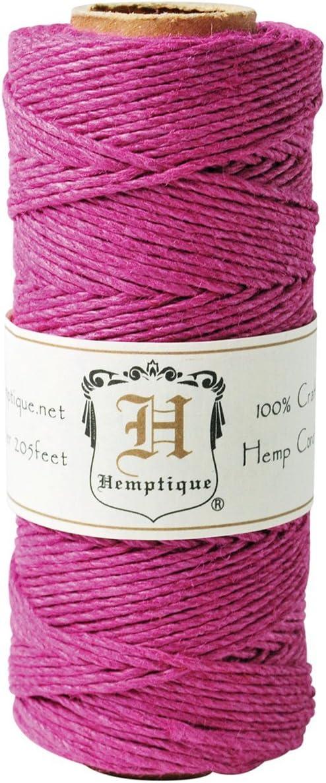 205-Feet Dark Pink Hemptique HS20-DKPNK Hemp 20-Pound Cord Spool