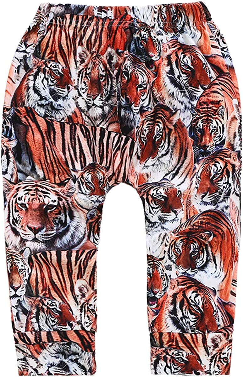 naughty kiss Newborn Baby Boys Girls Tiger Print Long Harem Pants Casual Autumn Winter Spring Trousers Leggings