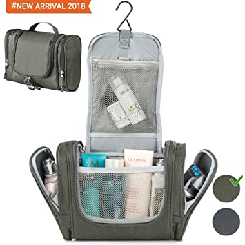 Travel Hanging Toiletry Bag for Travel Accessories - Toiletry Kit - Shower  Bag - Best Large fb46f1d1f19f2