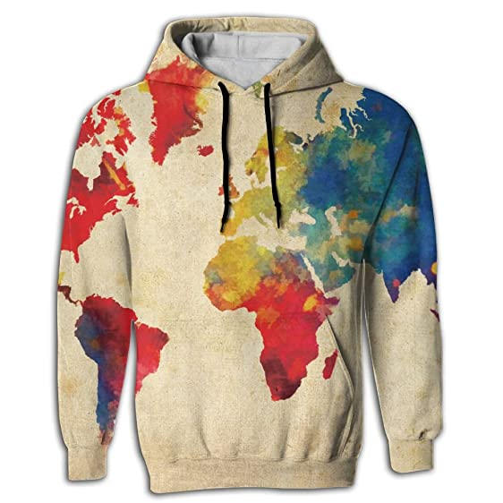 Amazon jevesg world map abstract mens hoodie sweatshirt jevesg world map abstract mens hoodie sweatshirt pullover gumiabroncs Images
