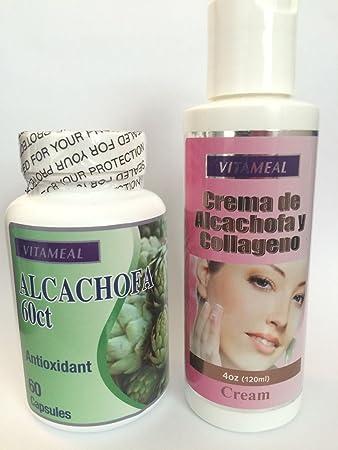 Kit Alcachofa Capsules - Crema Alcachofa Colageno Antioxidant Cream Skin Piel