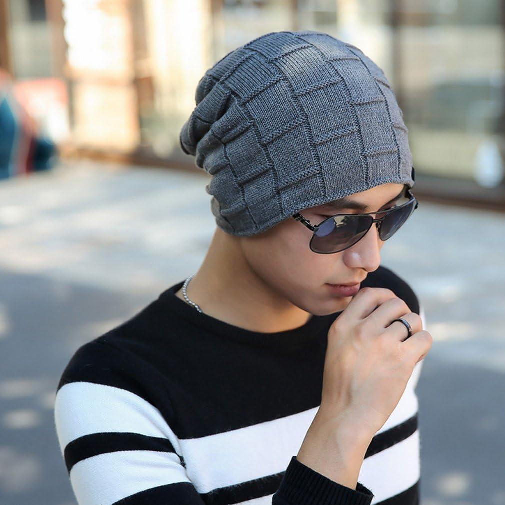 Grey Thenice Mens Winter Skull Cap Knit Hat