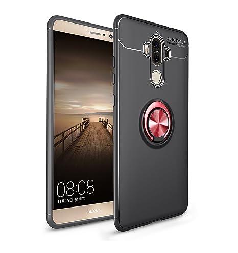 Leton Funda Huawei Mate 9 Silicona Anillo Ring Rojo Negro ...