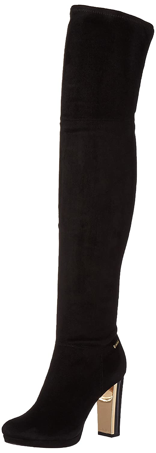 Calvin Klein Women's Polomia Over The Knee Dress Boot B01DXU2DKS 7 B(M) US|Black Micro Suede/Neoprene