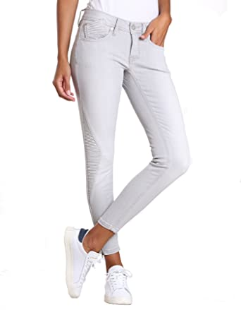 Gang Damen Skinny Jeans Faye Biker-Grey Denim  Amazon.de  Bekleidung 2be8b76971