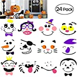 Unomor Foam Pumpkin Decorations Craft Kit, Halloween Crafts for Kids as Halloween Party Trick or Treat Autumn Party…