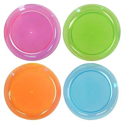Amazon.com: Party Essentials Hard Plastic 9-Inch Round Party ...