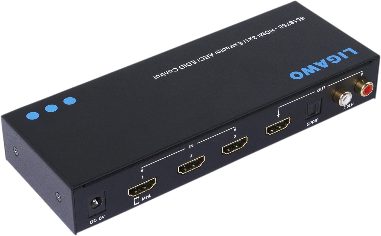 Satelliten-Zubehr Umschalter 3 In 1 Out HDMI Audio Extractor ...