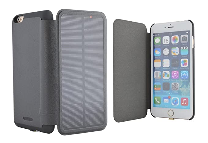 quality design e6d1c 6276f iPhone 6 Plus Solar Power Battery Case 5.5