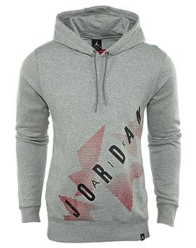 Nike AJ 6 Sudadera Línea Air Jordan, Hombre, Gris (Dk Grey Heather/Black), XS: Amazon.es: Deportes y aire libre