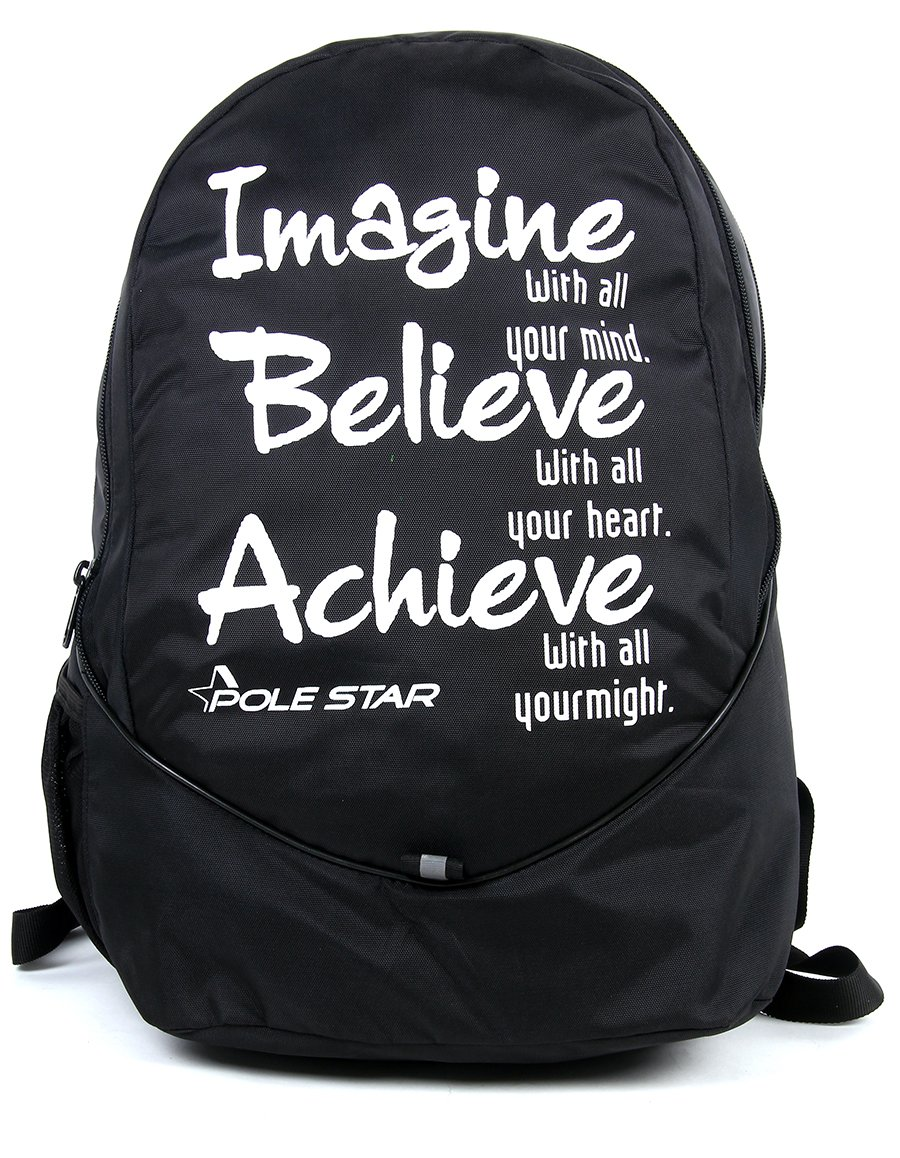 "POLE STAR ""BUDDY"" 31 Lt Black Lite weight Casual Backpack I School Bag"