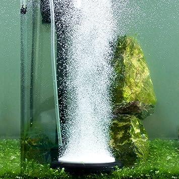Hygger Piedras Aireadoras Acuarios, Burbujeador para Tanque de Peces, Nano Piedra Circular Horneada para Hidroponia, Pequeñas Burbujas, Difusor de ...