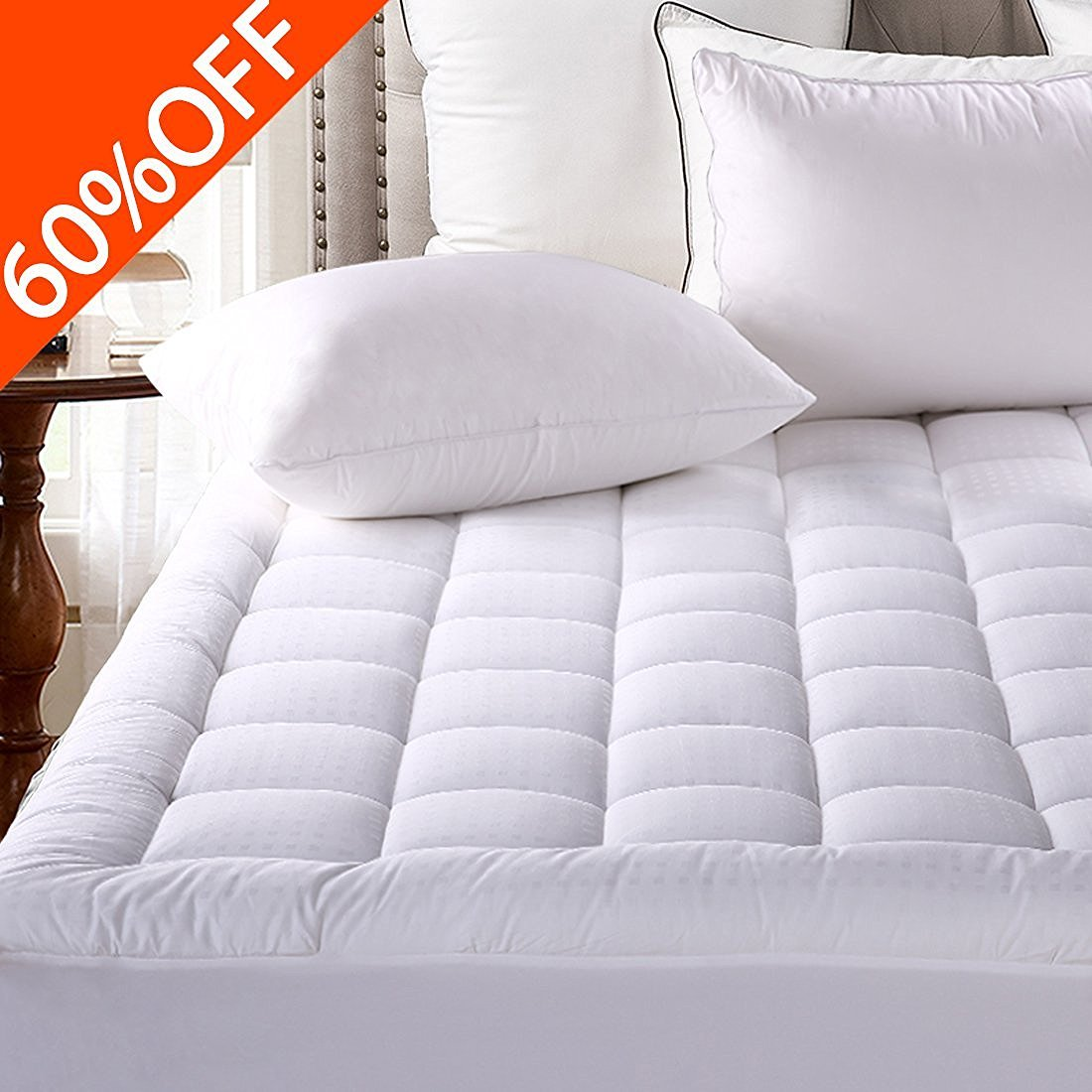 Fitted Quilted Mattress Pad Co...
