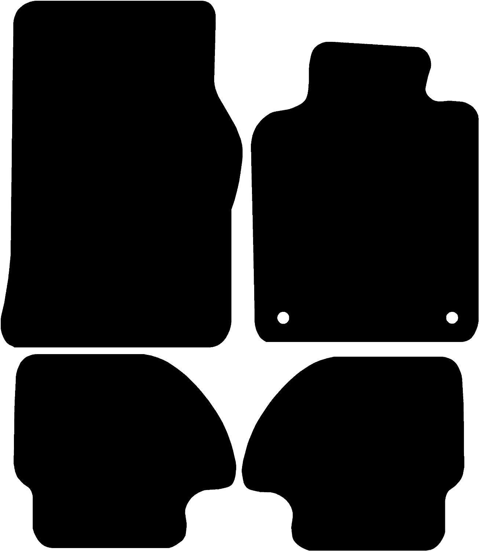 1982-1991 Black with Black Trim Connected Essentials CEM650 Car Mat Set for 944 Premium
