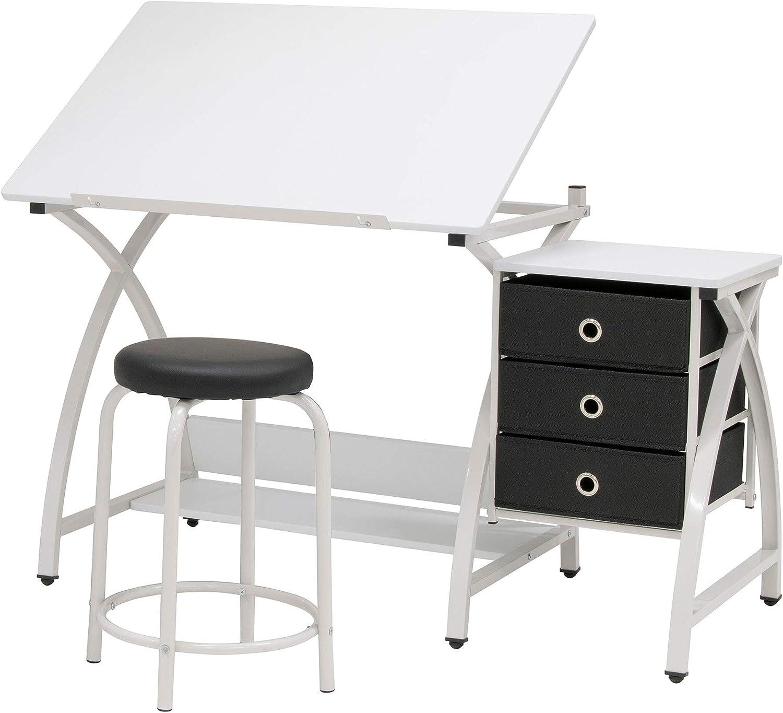Amazon Com Sd Studio Designs Venus Craft Station W Stool White