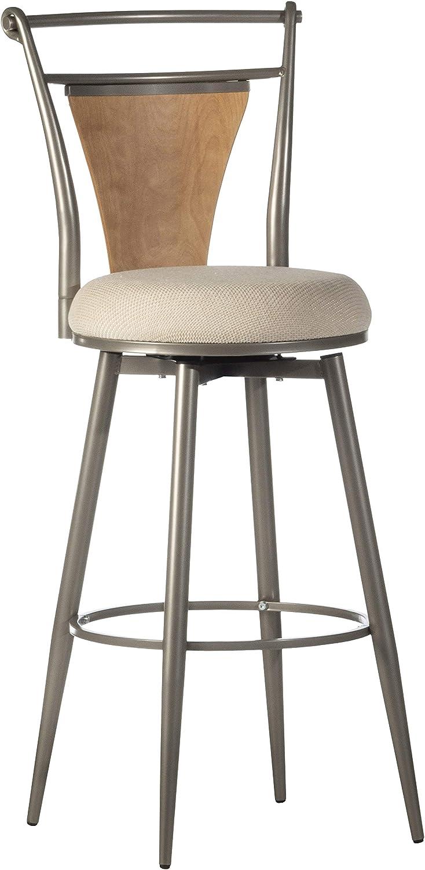 Hillsdale Furniture London Swivel Bar Stool, Champagne
