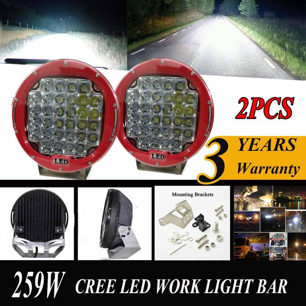 Amazon.com: angelma Par 9 inch 259 W CREE LED conducción ...