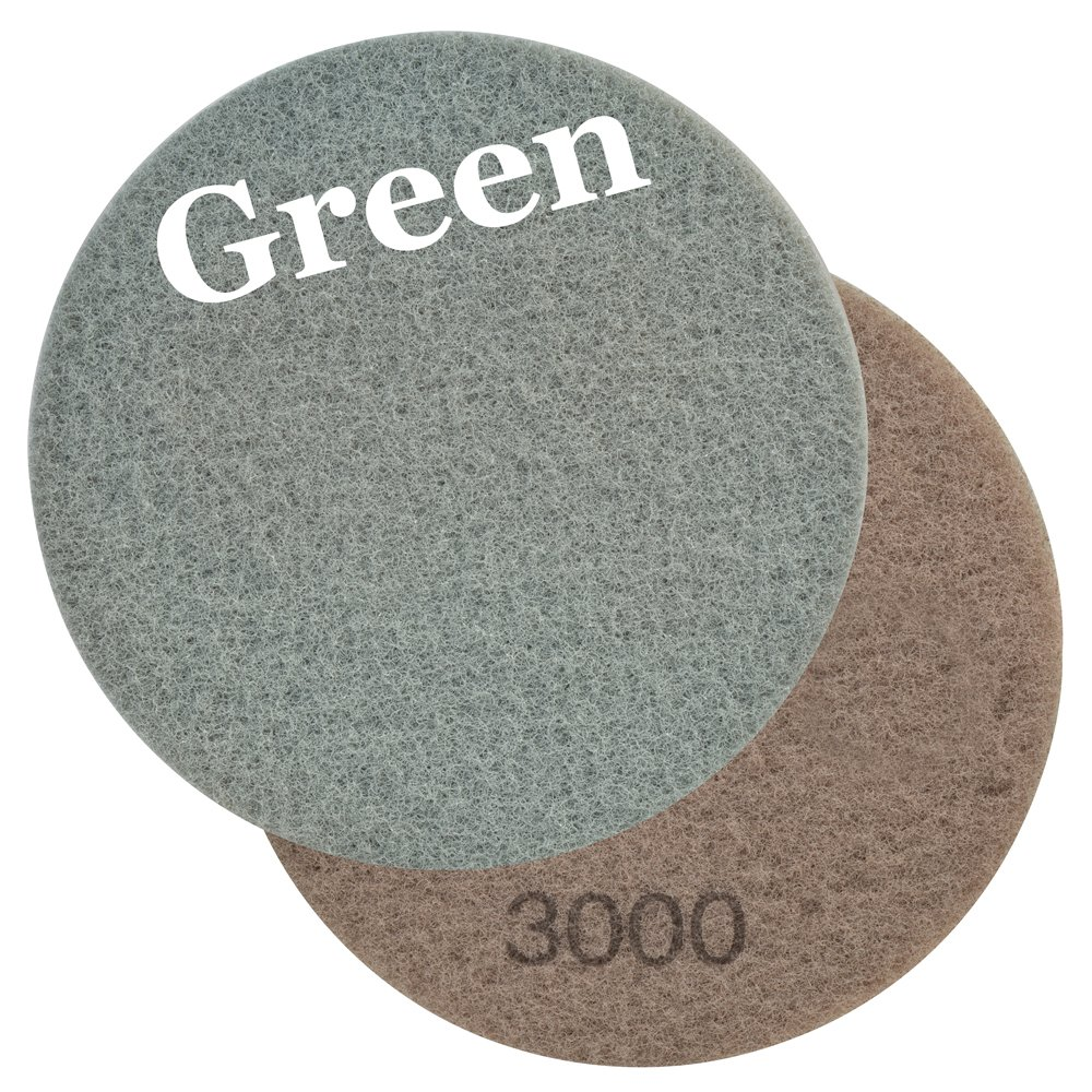 Viper 60644 Diamond Impregnated Green 3000 Grit Floor Maintenance Pad for Step 3 Polishing and Daily Maintenance (2 Pack), 17-Inch by Viper