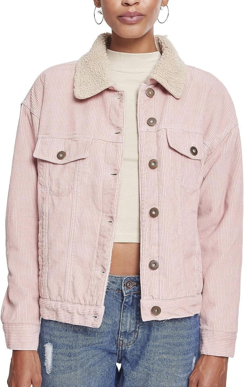 Urban Classics Damen Jacke Ladies Oversize Sherpa Corduroy Jacket Cordjacke Mit Sherpa Innenfutter Für Frauen In 3 Farben Größen Xs 5xl Bekleidung