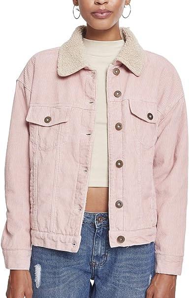 Urban Classics Ladies Oversize Sherpa Corduroy Jacket Chaqueta para Mujer