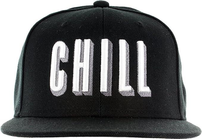 1c3eee5b55529 Snapback Netflix Chill Hat - Embroidered Adjustable Black White Baseball Cap