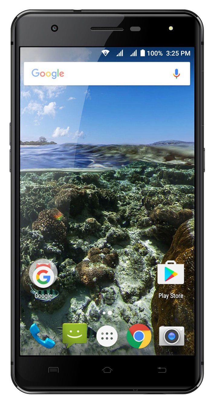 AZUMI Kinzo A55 OLi - 5.5'' High Definition AMOLED Display 32GB +3GB 4G LTE US GSM Unlocked Dual Sim Smartphone Black (AT&T and T-Mobile Compatible)