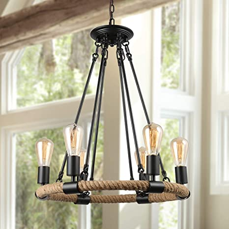 Lnc Rustic Farmhouse Chandeliers For Dining Rooms Pendant Lighting For Kitchen Island Living Room A0253202