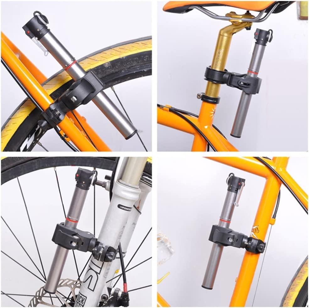 Bicycle Flashlight Holder Bike Front Light Bracket 360 Rotation Torch Clip Mount