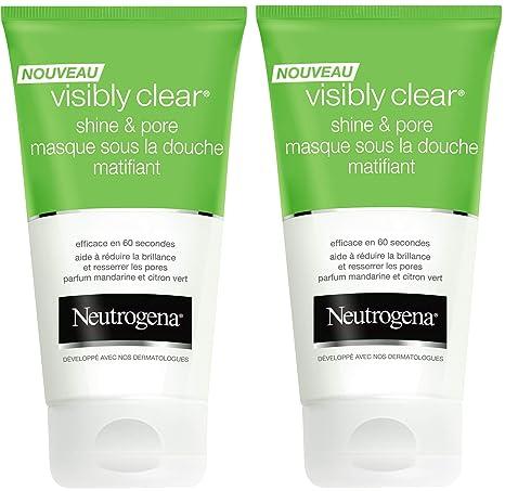 Neutrogena Visibly Clear Shine/Pore máscara SS la ducha matificante 150 ml – juego de