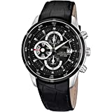 Festina - F6821/3 - Montre Homme - Quartz - Chronographe - Chronographe - Bracelet Cuir Noir