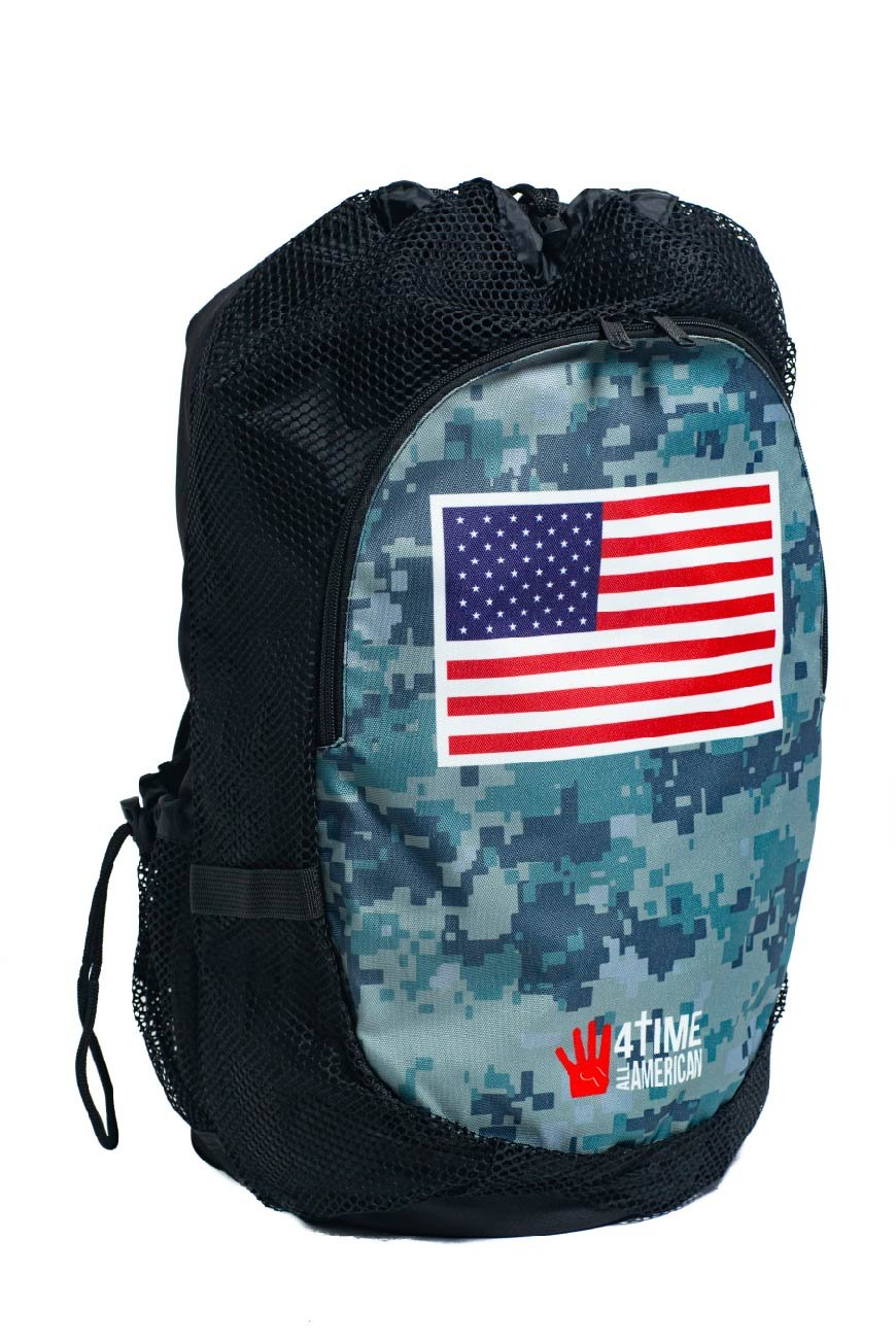 4-Time All American Green Camo Backpack