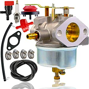 632334A Carburetor +spark plug+fuel line for Tecumseh 632370A 632110 632111 632334 632370 632536 640105 7hp 8hp 9hp HM70 HM80 HMSK80 HMSK90 John Deere AM108405 Toro 824 824XL 828 Snow Blower Thrower