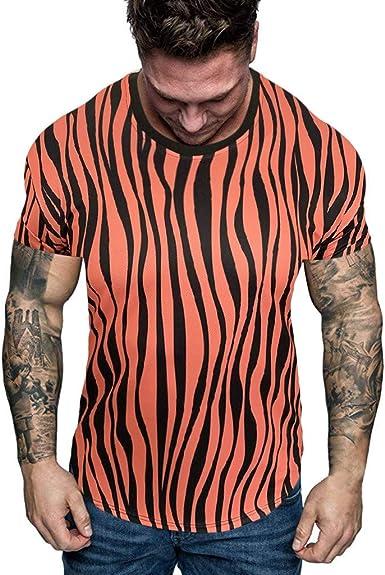 CUTUDE - Camiseta de Manga Corta para Hombre, Estilo Informal ...