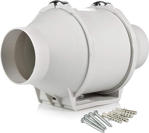 Hon&Guan 100mm Ventilador Extractor de Aire Alto Rendimiento con ...