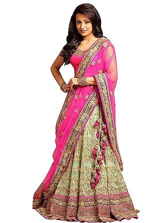 c70eccd876 purvi fashion Women's Georgette Lehenga Choli (Pink_Free Size ...