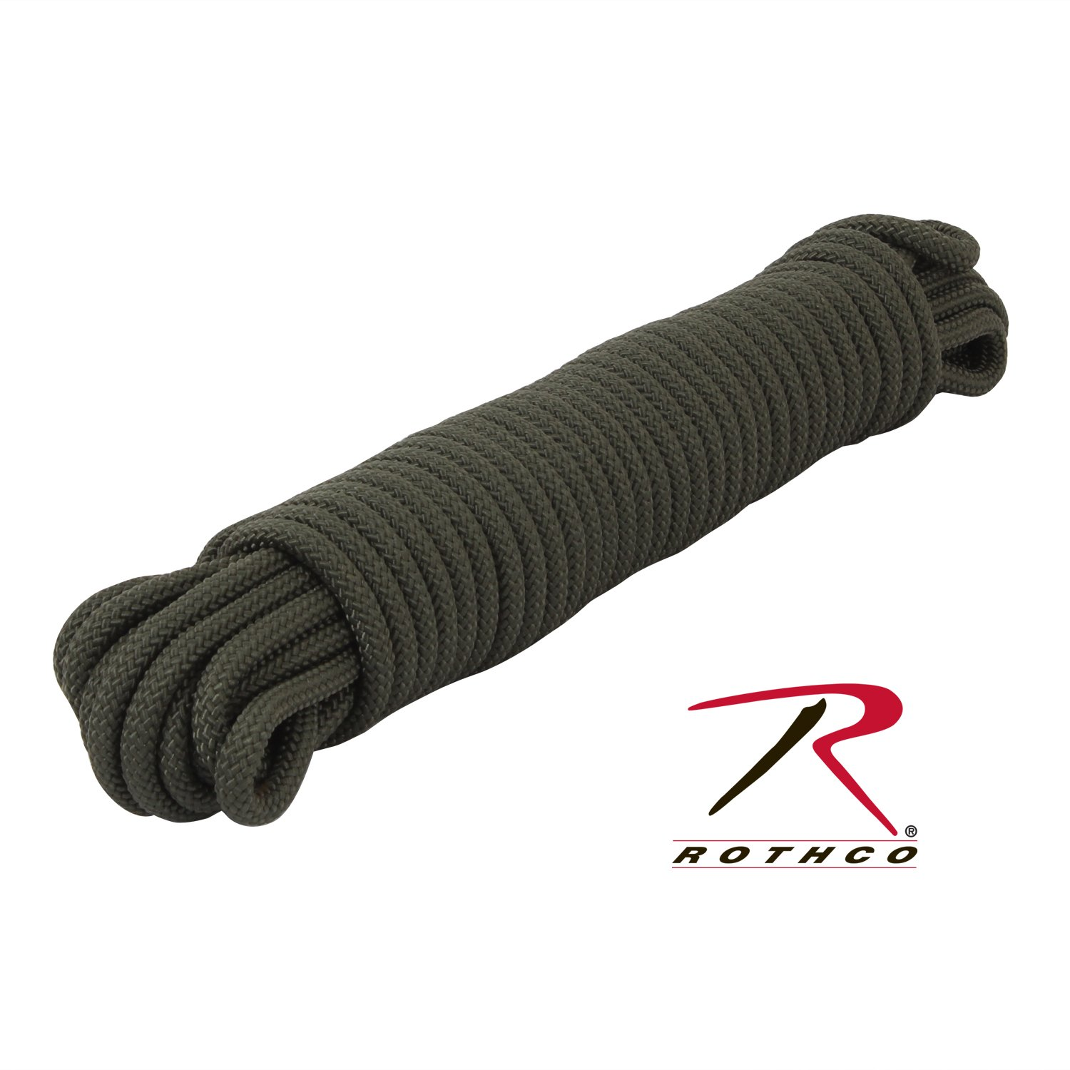 ROTHCO UTILITY ROPE 3/8'' 50 FT / OLIVE DRAB