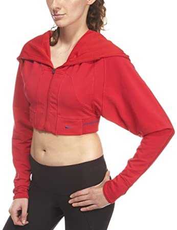 Nike Damen Top DanceFIT Hooded  6/8rot   rot
