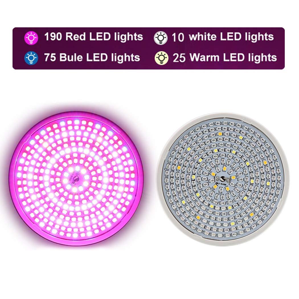 JUSTDOLIFE Crecer La Bombilla LED De Espectro Completo Bombilla De Luz De Planta para Invernadero De Interior: Amazon.es: Hogar