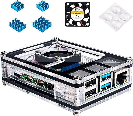 Miuzei Gehäuse Für Raspberry Pi 4 Mit Kühlung Lüfter 4 Computer Zubehör