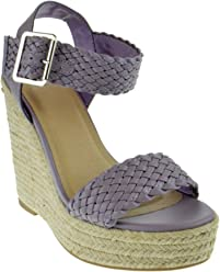 c8cdc6d095 My Delicious Shoes Remain Womens Braided Strap Wedge Platform Sandals