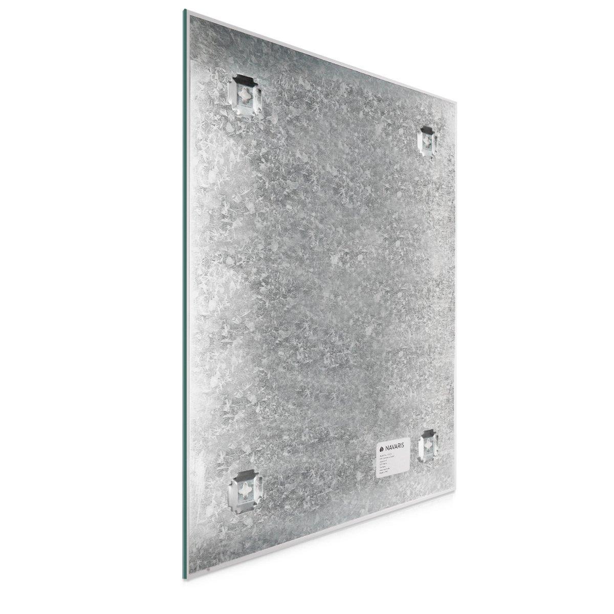 Navaris Tablero de Notas magnético y mapamundi - Pizarra magnética de Cristal 60x40CM con diseño Mapa Mundial - Incluye 1 Marcador imanes y Soporte: ...