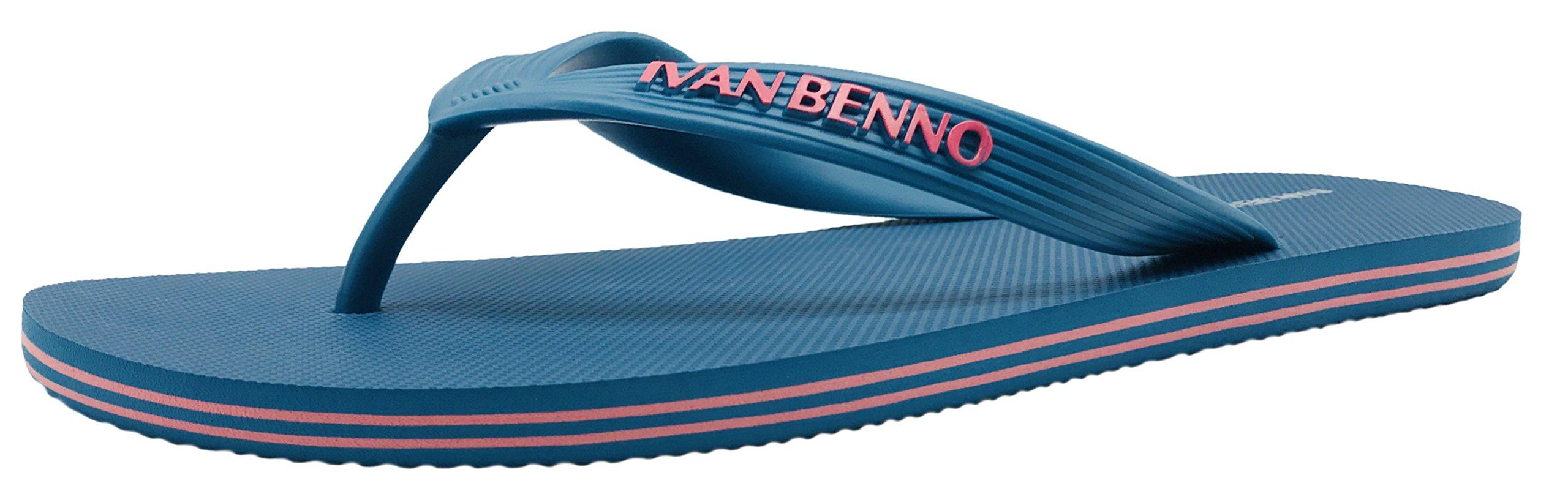Finoceans Mens Flip Flops Tong Comfort Beach Athletic Sandals Slipper Shoes