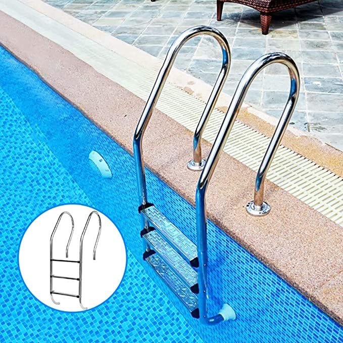 Amazon.com: ZDYLM-Y Pool Ladder for In Ground Pools, Heavy ...