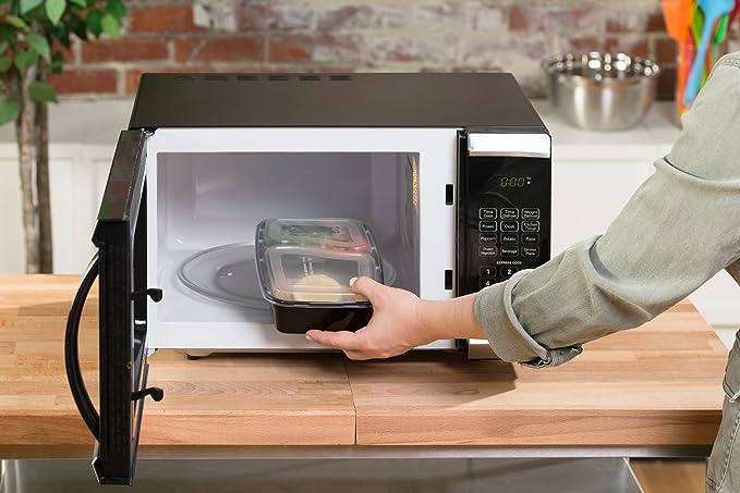 7 unidades) KAMIERFA Premium apilable 2 compartimentos comida Prep ...