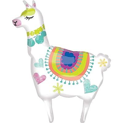 "Anagram Alpaca Llama 41"" Supershape Foil Jumbo Birthday Party Balloon : Toys & Games"